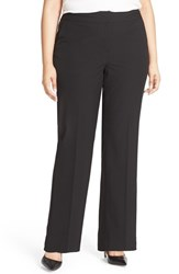 Sejour Plus Size Women's 'Ela' Stretch Curvy Fit Wide Leg Suit Pants