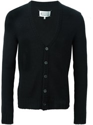 Maison Martin Margiela Open Knit Cardigan Black