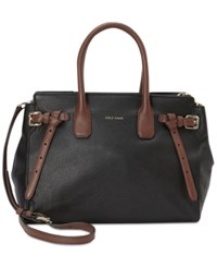 Cole Haan Emery Small Satchel Black Harvest Brown