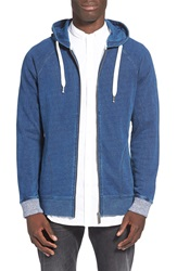 Native Youth Indigo Dye Zip Hoodie