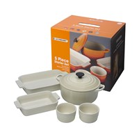 Le Creuset 5 Piece Starter Set Almond