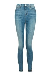 Topshop Moto Authentic Step Hem Jamie Jeans Blue