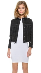 Marques Almeida Fitted Collarless Denim Jacket