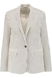 Rag And Bone Belmar Striped Silk Blazer White