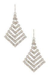 Cristabelle Crystal Layered Kite Drop Earrings Metallic