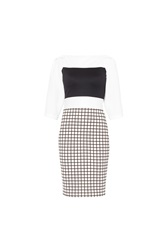 Maiocci Collection Contrast Dress Black White