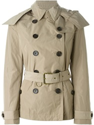 Burberry Brit Short Hooded Trench Coat Nude And Neutrals