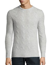 Black Brown Cable Knit Cashmere Sweater White Sand