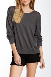 Wildfox Couture Long Sleeve Basic Tee Black