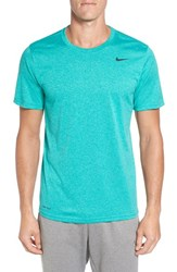 Nike Men's 'Legend 2.0' Dri Fit Training T Shirt Teal Charge Washed Teal