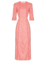 The Vampire's Wife Cate Cotton Midi Dress Pink Print