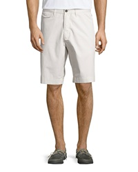 Robert Graham Excursion Straight Leg Shorts Stone