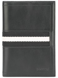 Bally Striped Wallet Black