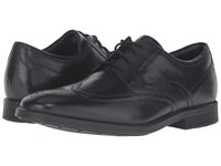 Rockport Dressports Business Wing Tip Black Leather Men's Shoes