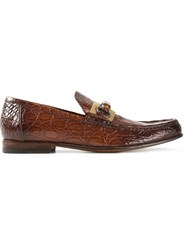 Gucci Bamboo Detail Loafers Brown