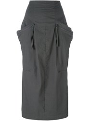 Rundholz Pocket Detail Fitted Skirt Grey