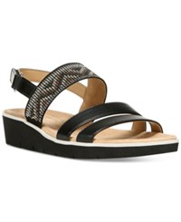 Naturalizer Dynamic Flat Sandals Women's Shoes Black