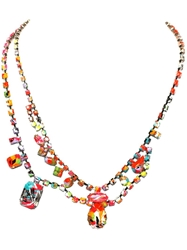 Tom Binns 'Splash Out' Double Necklace Multicolour