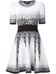 Yigal Azrouel Jacquard Ombre Knitted Dress White