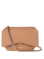 Givenchy Bow Cut Studded Leather Cross Body Bag Nude