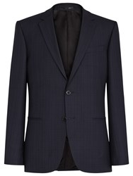 Reiss Baggio Wool Check Modern Fit Suit Jacket Blue