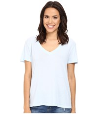 Splendid Modal Cotton Jersey V Neck Tee Crystal Blue Women's T Shirt