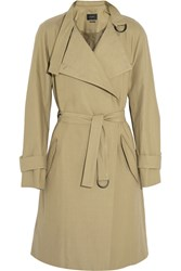 Isabel Marant Cotton And Linen Blend Trench Coat Nude