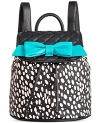 Betsey Johnson Bow Flapover Backpack Spot Teal
