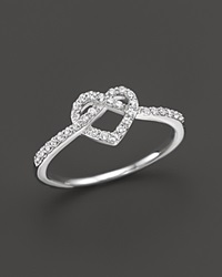 Bloomingdale's Diamond Heart Knot Ring In 14K White Gold .25 Ct. T.W.