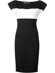 Capobianco Contrasting Stripe Dress Black