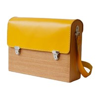 Grav Grav Colorful Wooden Satchel Bag Yellow