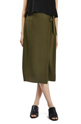 Topshop Women's Wrap Tie Midi Skirt