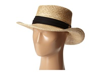 Tommy Bahama Palm Fiber Gambler With 3 Pleat Cotton Band Black Caps