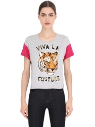 Juicy Couture Printed Cotton Jersey T Shirt