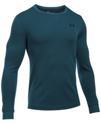 Under Armour Men's Waffle Textured Long Underwear Shirt Nova Teal