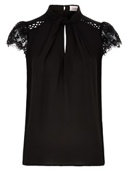 Louche Holton Lace Top Black