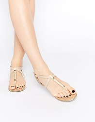 Call It Spring Mirenalla Toe Post Flat Sandals Coral And Nude Tan