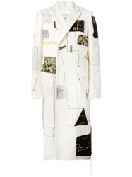 Heikki Salonen Fully Patched Long Coat Nude And Neutrals