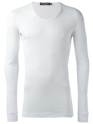 Dolce And Gabbana Ribbed T Shirt White