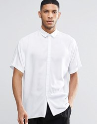 Asos Oversized Shirt In White With Batwing Sleeve White