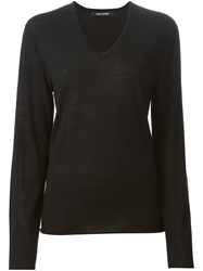 Neil Barrett V Neck Sweater Black