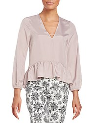 Lucca Couture Everly Peplum Blouse Mauve