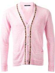 Guild Prime Beaded Fastening Button Down Cardigan Pink And Purple