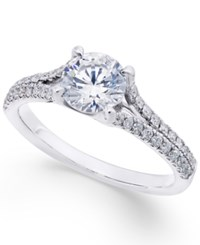 X3 Certified Diamond Engagement Ring 1 1 3 Ct. T.W. In 18K White Gold