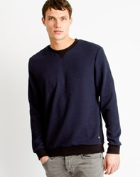 Only And Sons Mens Jaquard Sweatshirt Navy