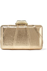 Kotur Espey Metallic Faux Textured Leather Clutch Gold