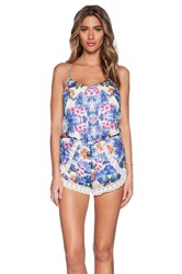 Lucca Couture Romper Blue