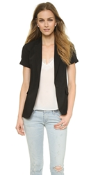 Theory Seasons Aren Short Sleeve Blazer Black