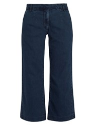 Current Elliott The Cropped Neat Wide Leg Jeans Indigo