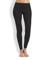 Hanro Woolen Silk Leggings White Black Charcoal